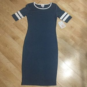 *NWT* LuLaRoe Blue and White Julia Sheath Dress XS